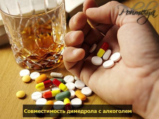 Алкоголь и димедрол: эффект совместного приема, взаимодействие с алкоголем