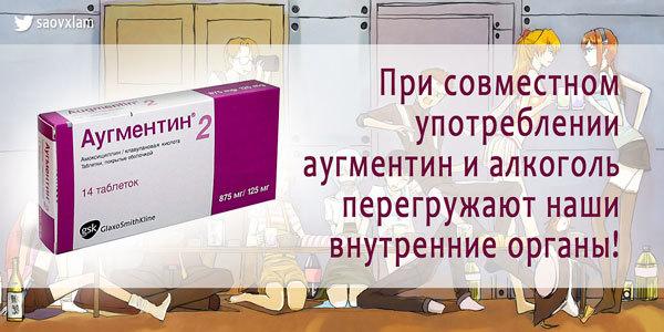 Алкоголь и аугментин — Инструкция, совместимость и последствия употребления с алкоголем, полезные советы врачей
